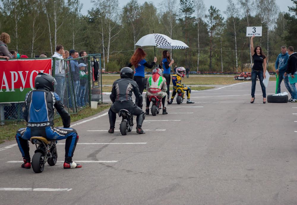 Mini bikes en bromfiets wedstrijden en trainingen